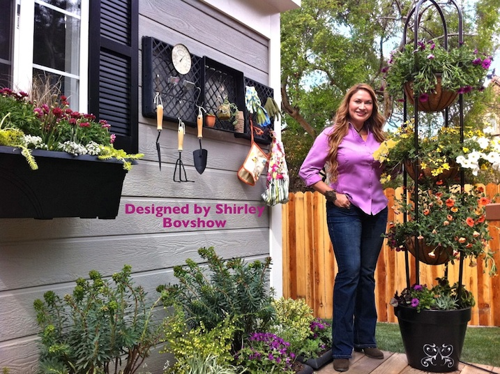 I recently completed a deck garden makeover for the Home & Family Show on Hallmark Channel. Although, a TV project, this is a landscape design anyone can implement at home.