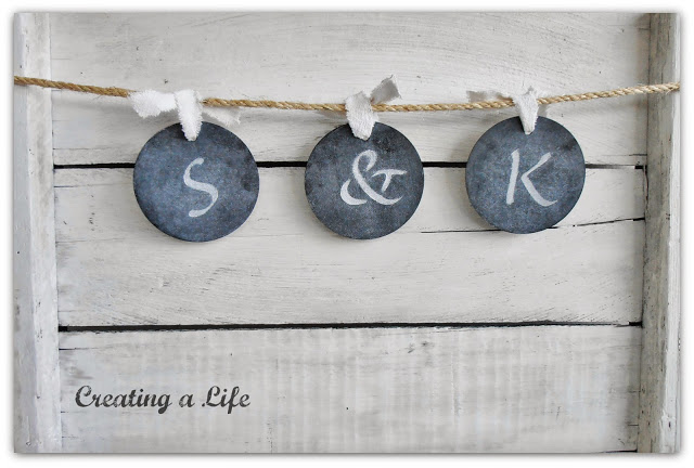DIY Chalkboard Style Tags out of Coasters via Creating a Life