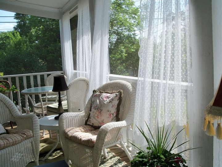 screen porch added to 1925 cottage, curb appeal, outdoor furniture, outdoor living, porches