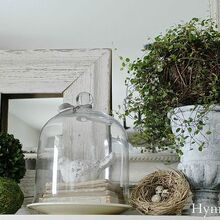 outdoor inspired spring mantel, fireplaces mantels, seasonal holiday d cor, Outdoor inspired spring mantel