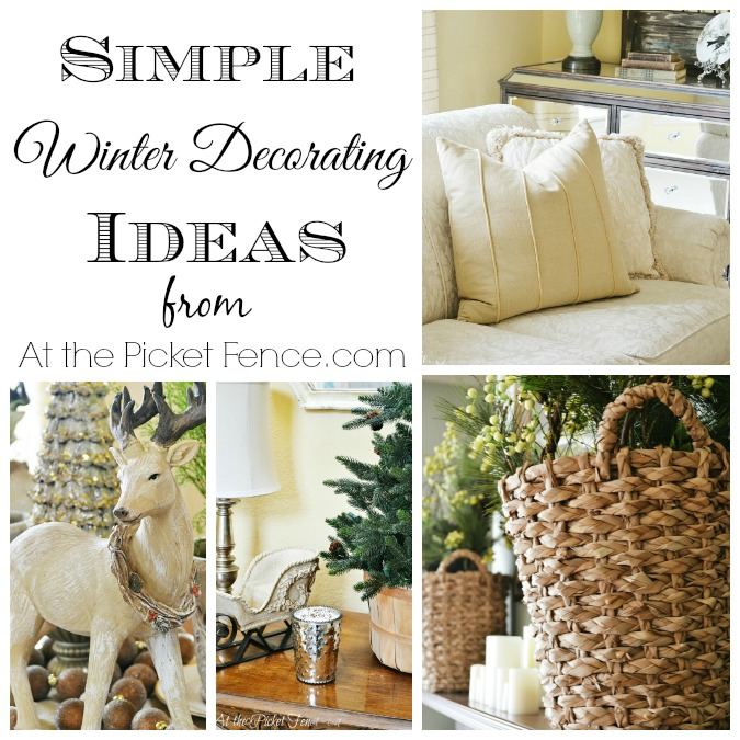 Here are some simple winter decorating ideas!