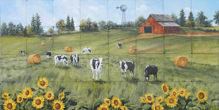 Holstein Pasture was painted for a client that owns a dairy farm in N. California. They specialize in cheese.