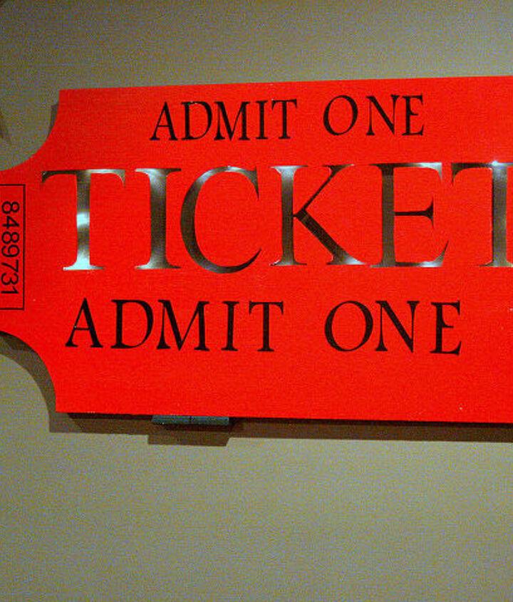 DIY Ticket Sign