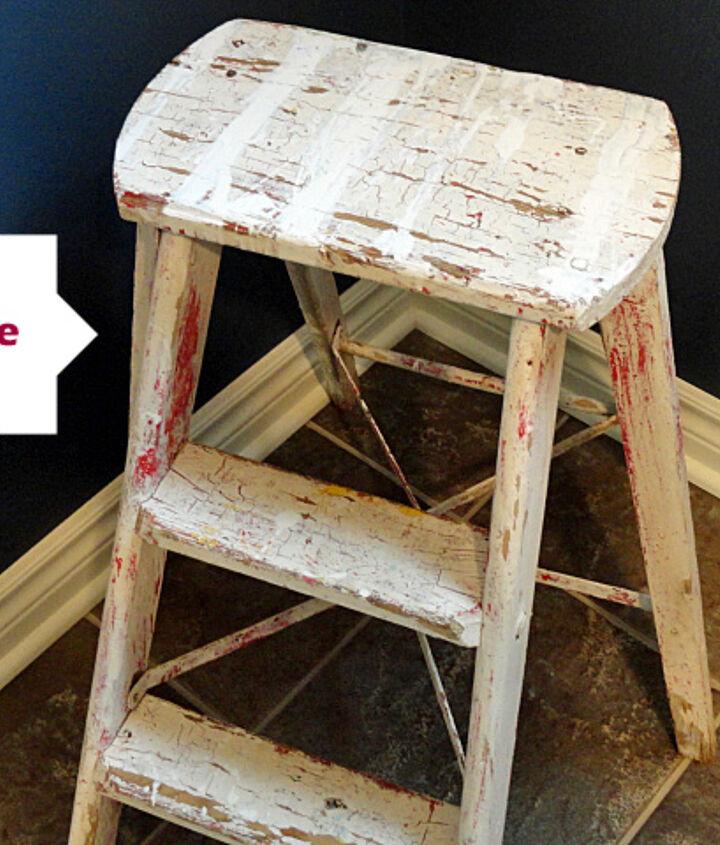 step ladder before - see blog post for makeover steps