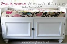 how to make a window seat cushion in 5 minutes, diy, how to, window treatments, windows, woodworking projects