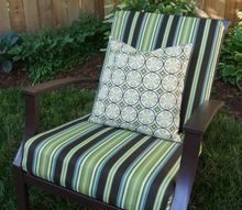 sew easy way to cover those old outdoor cushions, outdoor furniture, painted furniture, reupholster