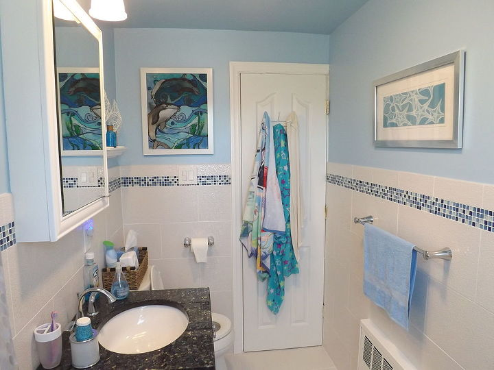 before after photos of my upstairs bath remodel, bathroom, remodeling