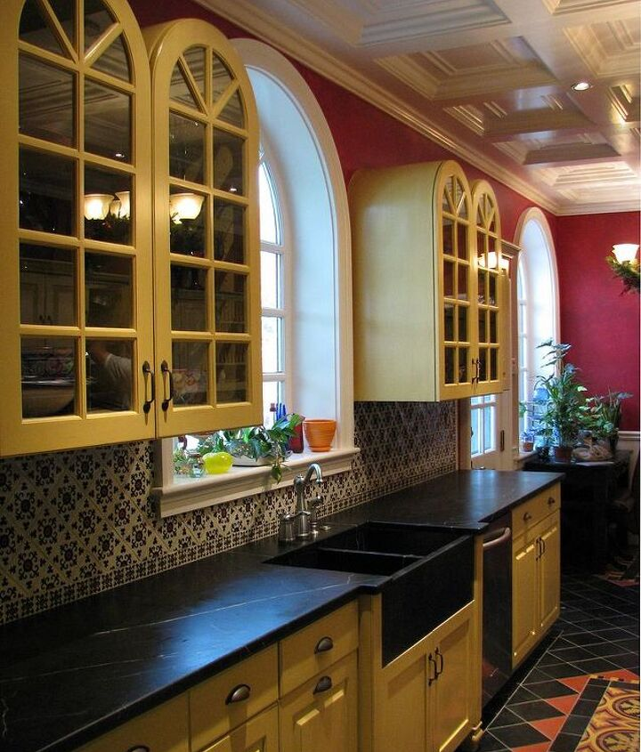 The finish on these cabinets were cracked and chipped before we had them refinished and repaired .