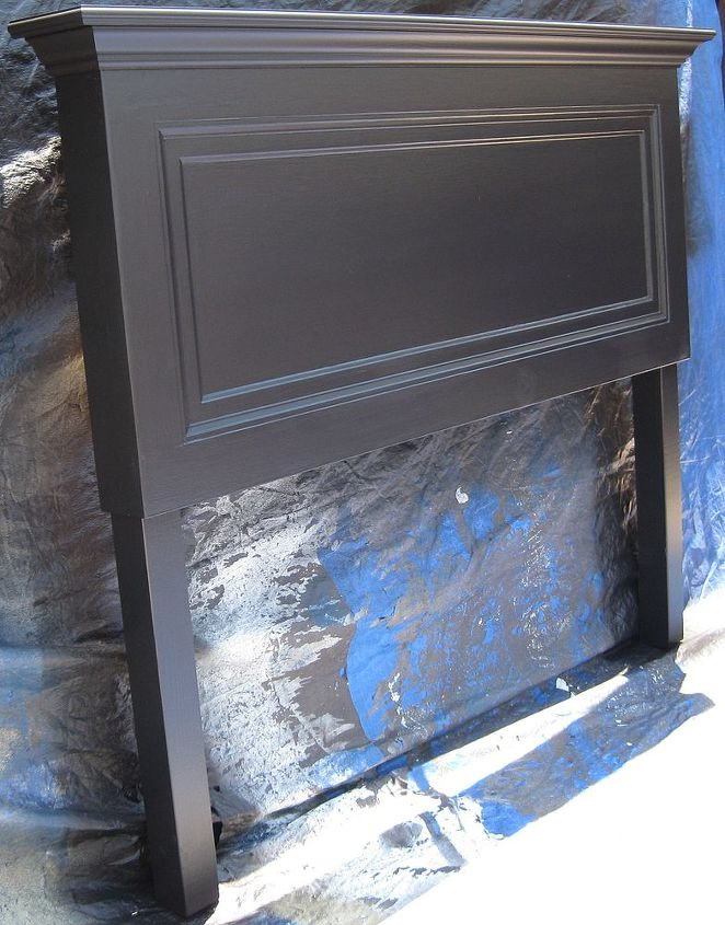 85 year old one panel door converted into a king size headboard, doors, home decor, repurposing upcycling