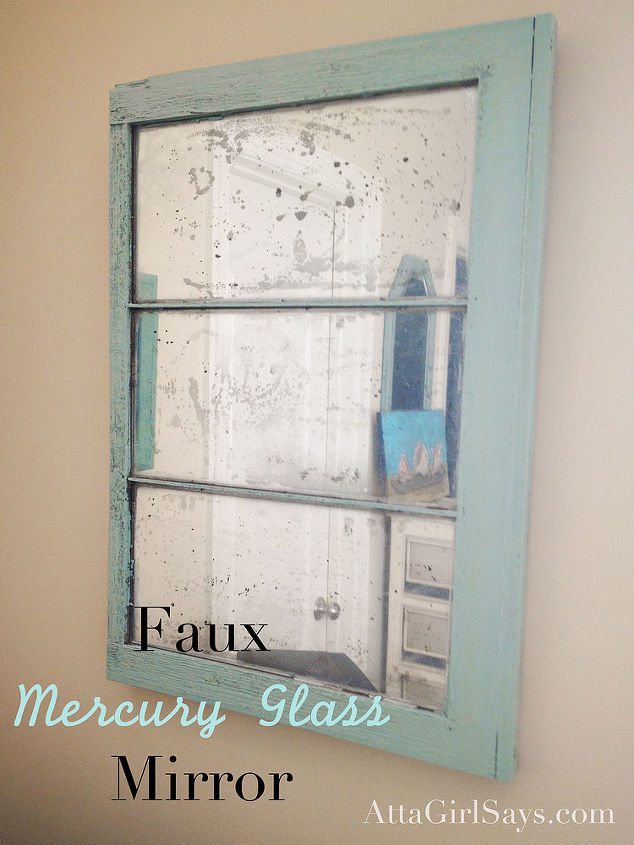 Diy Mercury Glass Mirror Chalk Paint Home Decor Painting Repurposing Upcycling