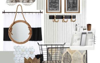 guest bathroom inspiration board, bathroom ideas, home decor