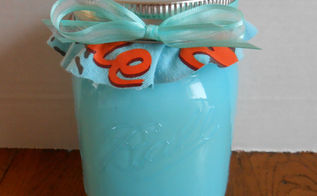 diy mason jar candles and other teacher s gifts, crafts, mason jars, I used an old T shirt for the top