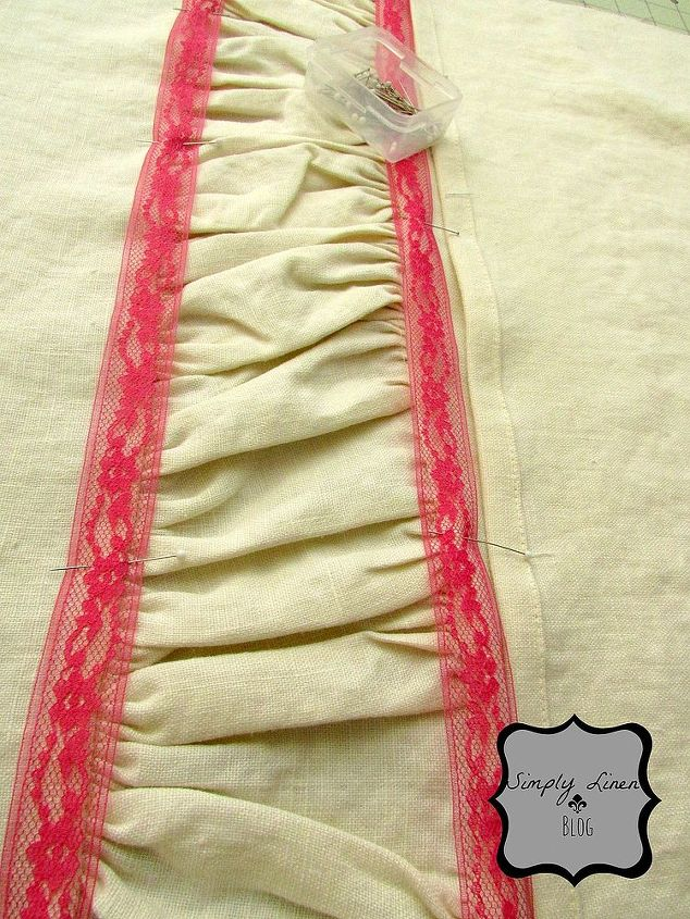 Sew on the lace