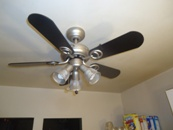 One Hour Later: New Kitchen Ceiling Fan.
