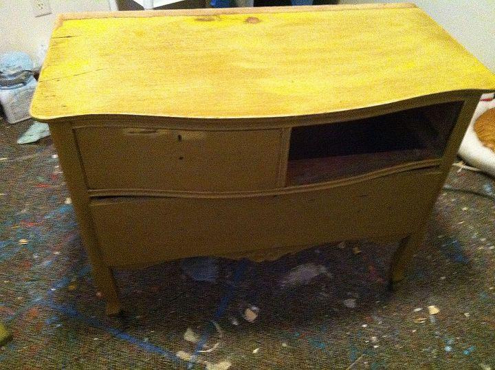 turquoise antique dresser, painted furniture