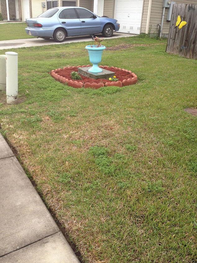 meter box, gardening, landscape, meter box so far still a work in process