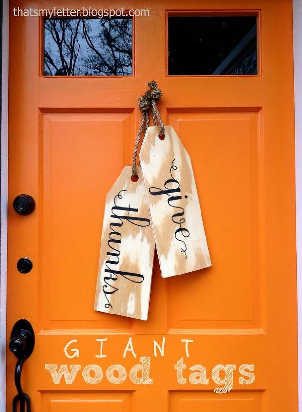 from Thats My Letter - great alternative to the traditional fall wreath.