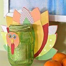 simple turkey votives, crafts, mason jars, seasonal holiday decor, thanksgiving decorations