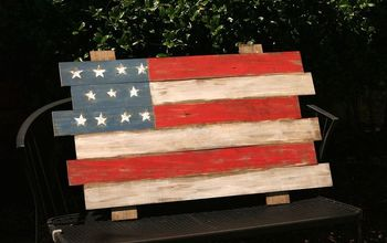 Scrap Wood American Flag