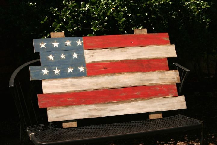 scrap wood american flag, crafts, patriotic decor ideas, seasonal holiday decor, woodworking projects