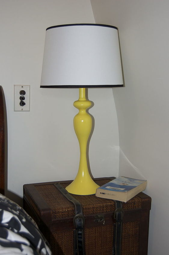 A friend was looking for a yellow pair of lamps. I picked these up for $1.00 each.
