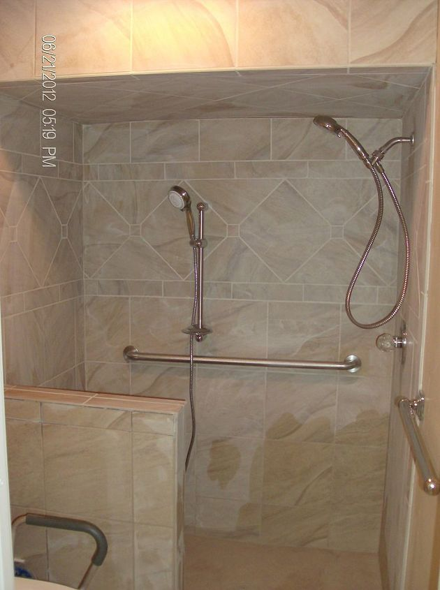 Shower done waiting on glass installation,will post photos when in.
