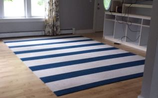 diy painted rug, flooring, home decor, living room ideas