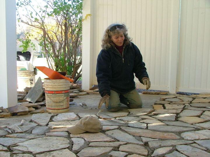 the metcalf stone patio, concrete masonry, patio