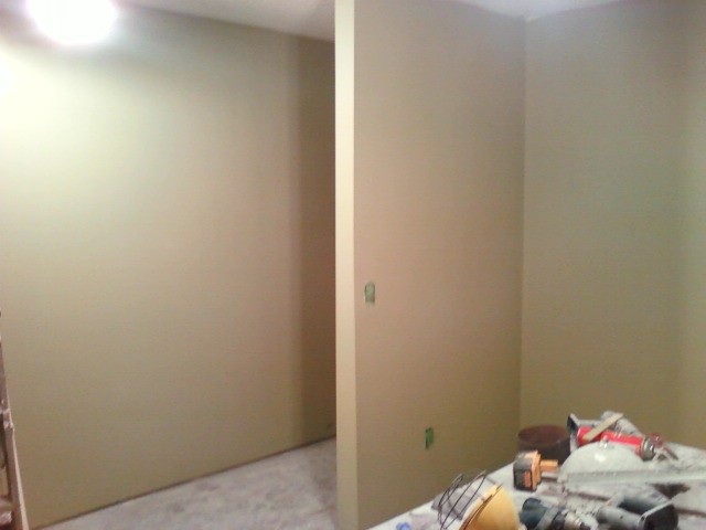 removed over half of the hallway wall, to make the bedroom larger