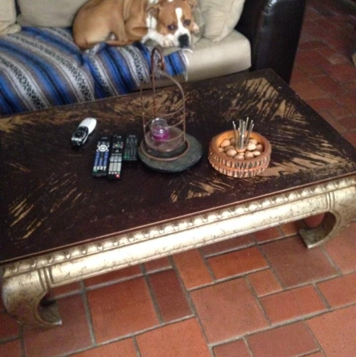 old coffee table made new, home decor, painted furniture, Before