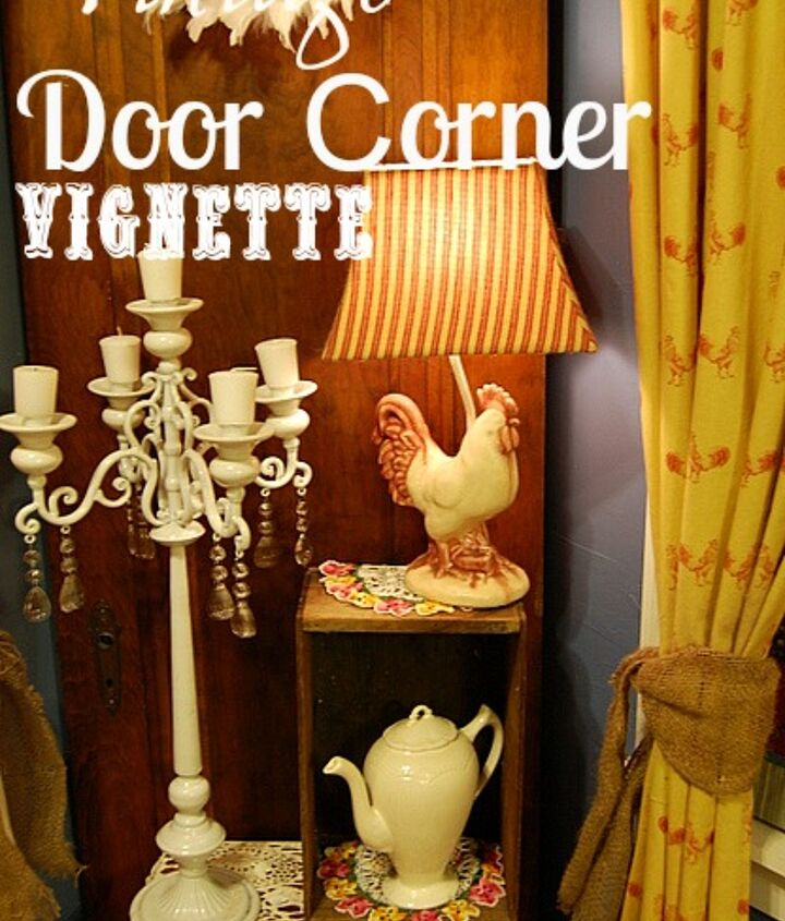 a trip to our dungeon lead to a charming corner vignette, home decor