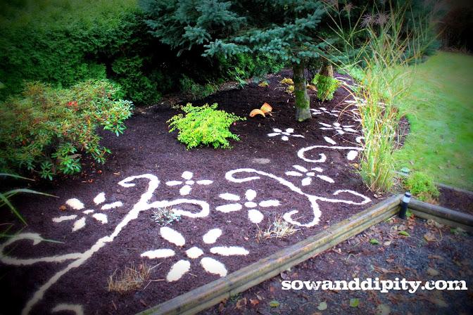 decorative bark mulch, flowers, gardening, landscape
