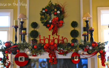christmas mantel, christmas decorations, seasonal holiday decor