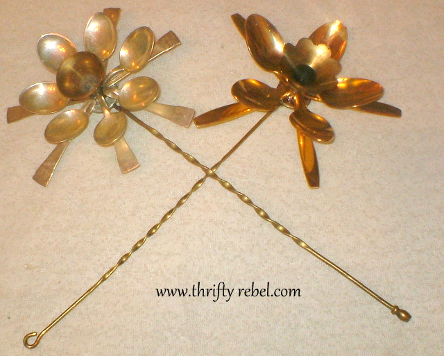 Here are two of the flowers with their stems attached.