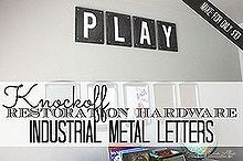 free printable letters restoration hardware knockoff, home decor