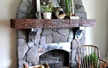 Revamping an outdated brick fireplace... without destruction!