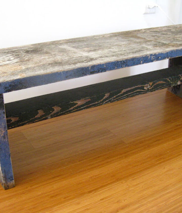 diy patterned bench, painted furniture