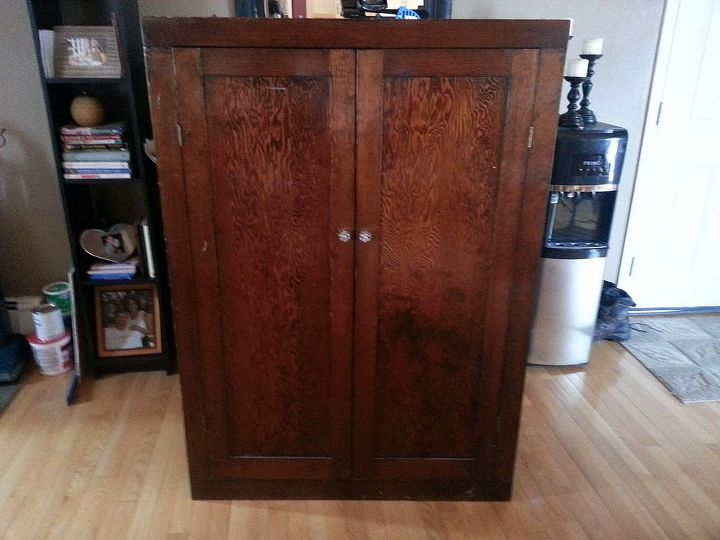 winter tree cabinet, chalk paint, kitchen cabinets, painted furniture, Before sorry to those who don t like to see wood painted