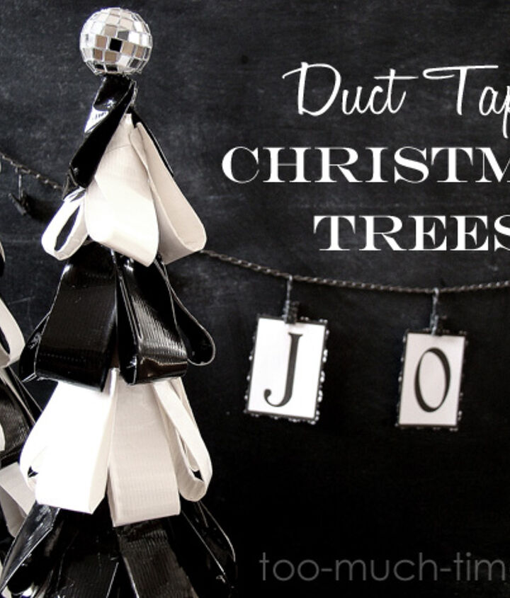 chic duct tape christmas trees, christmas decorations, crafts, seasonal holiday decor