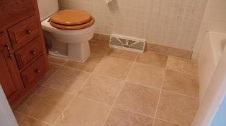 travertine in wet areas, flooring, kitchen backsplashes, tile flooring, tiling, Travertine bath floor