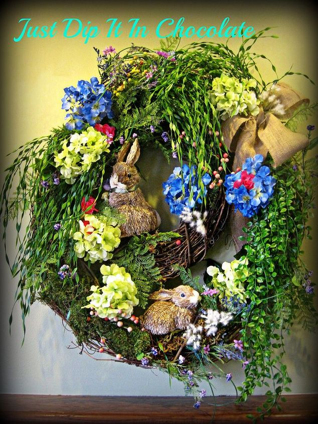 I wanted to leave some of the wreaths exposed with no foliage to represent the dirt or uncovered area surrounding the entrance of the burrow.