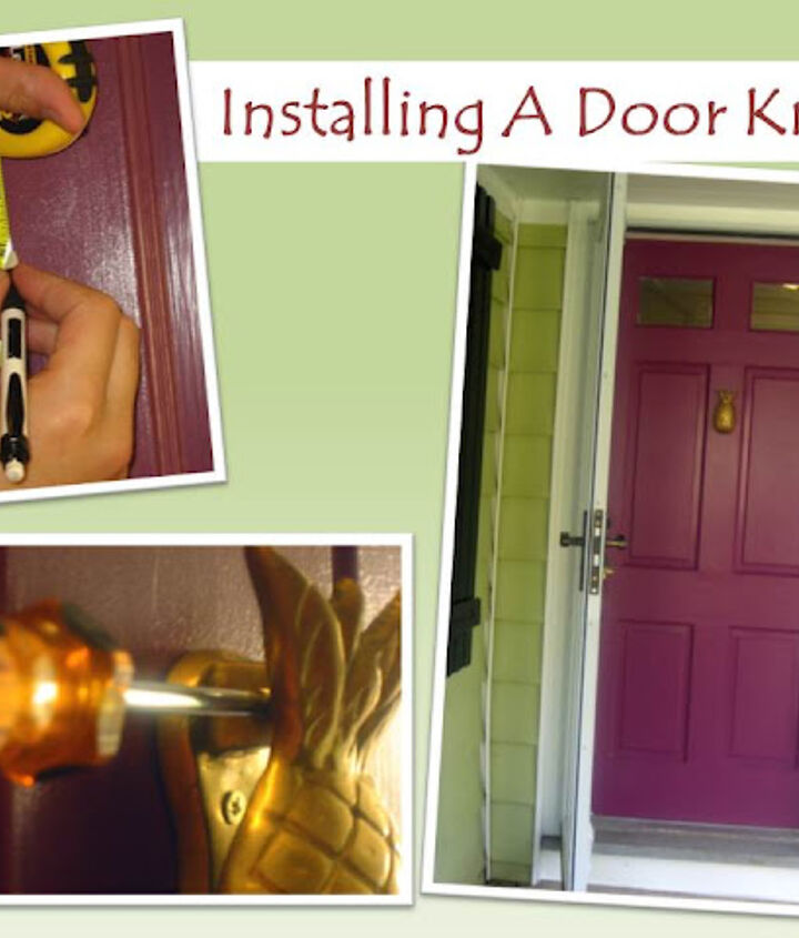 Did a little how to if your interested...http://29ruehouse.blogspot.com/2012/07/knock-knock.html