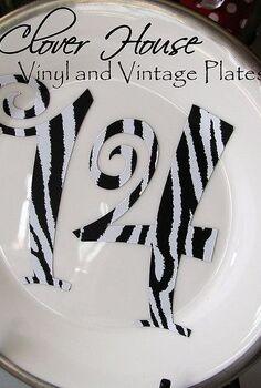 vinyl and vintage plates, crafts, valentines day ideas, Animal print 14 love