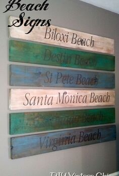 diy beach signs, crafts