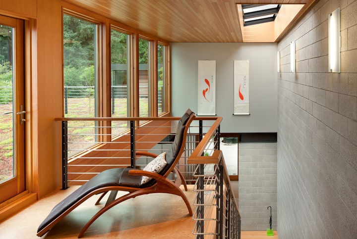 Library and Green Roof Deck _ Ellis Residence, Coates Design Architects, Seattle (photo by Lara Swimmer)