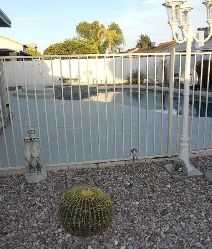 This is a true Arizona back yard - pool and all