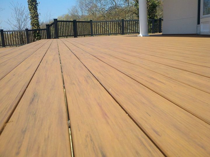 Tip: Look at decking that looks realistic. Everyone has an opinion on what looks real, this Timbertech XLM decking has 3 -4 different colors to accent it's grain. http://www.deckandpatio.com/decks/portfolio.html