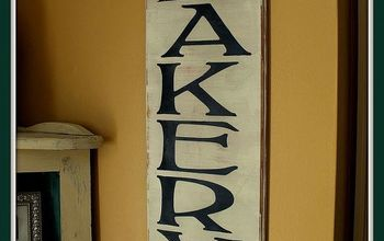 vintage styled bakery sign from recycled drawer front, crafts, home decor, painted furniture, all finished VINTAGE bakery sign