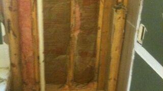 q disaster shower job, bathroom ideas, home improvement, home maintenance repairs, tiling, Demo