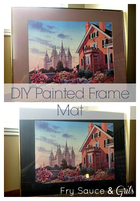 update a frame mat with some paint hometalk